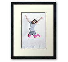 Jump for joy! Framed Print