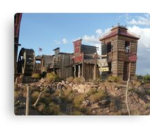 Old West Town Replica. Canvas Print