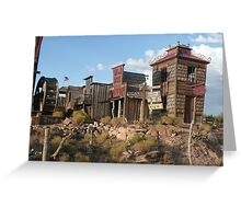Old West Town Replica. Greeting Card