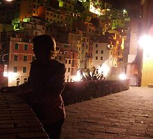 Riomaggiore at night by erwina