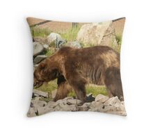 Big Brown Bear West Yellowstone Wildlife Sanctuary. Throw Pillow