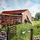 """Swallows' Return"" - Somerset Barn (Pawlett) by Timothy Smith"