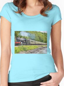 river side railway Women's Fitted Scoop T-Shirt