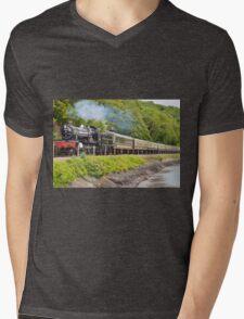 river side railway Mens V-Neck T-Shirt