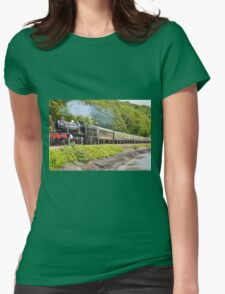 river side railway Womens Fitted T-Shirt