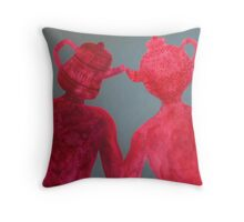 Mr Earl Grey Invites Lady Grey to Hightea 2009 Throw Pillow