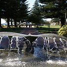 the Whale Tail fountain, Victor Harbor by BronReid