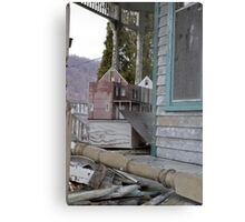 abandoned house and... dollhouse Metal Print