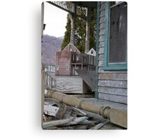 abandoned house and... dollhouse Canvas Print