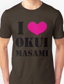 I Heart Okui Masami in Black T-Shirt