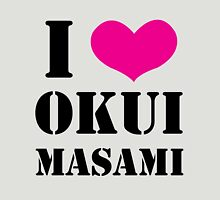 I Heart Okui Masami in Black Womens Fitted T-Shirt