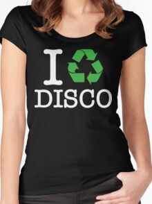 I Recycle Disco Women's Fitted Scoop T-Shirt