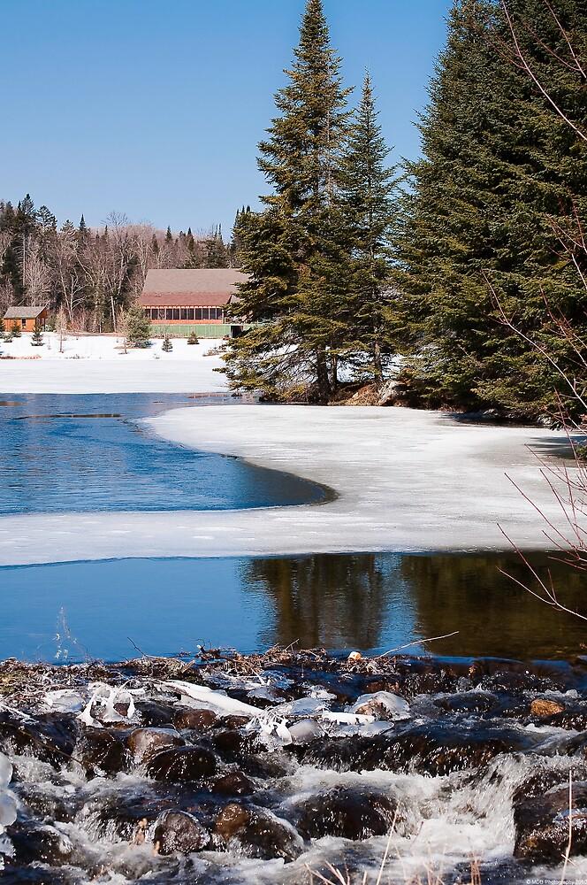 Icey Stream 4 by Mark David Barrington