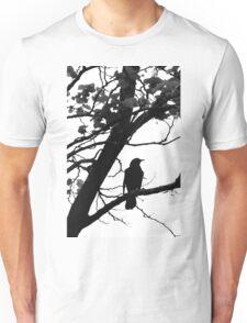 Blackbird on a branch Unisex T-Shirt