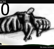 March 30th - My father did have big hands by 365 Notepads -  School of Faces