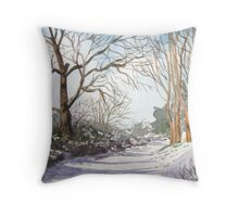 """A Walk In the Snow"" - Brent Knoll, Somerset Throw Pillow"