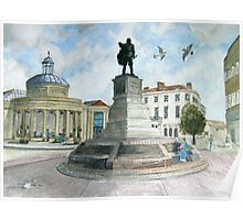 """""""Pointing Home"""" - The Cornhill, Bridgwater, Somerset Poster"""