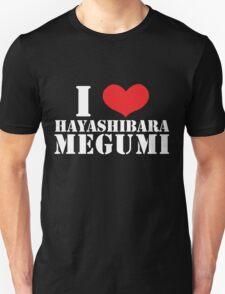 I Heart Hayashibara Megumi - Black Unisex T-Shirt