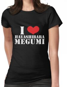 I Heart Hayashibara Megumi - Black Womens Fitted T-Shirt