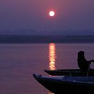 Ganges River sunset by BronReid