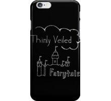 Thinly Veiled Fairy Tale (Black) iPhone Case/Skin