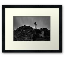 Pre Dawn at Point Lonsdale Lighthouse in Black and White Framed Print