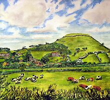 """Island of Frogs"" - Brent Knoll, Somerset by Timothy Smith"