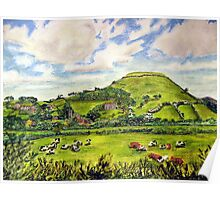 """Island of Frogs"" - Brent Knoll, Somerset Poster"