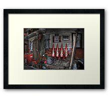 War Time Station Essentials Framed Print