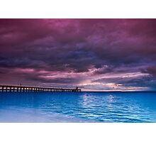 Stormy Morning at Point Lonsdale Pier Photographic Print