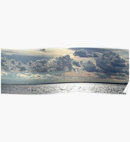 Silver Solent Sky Poster
