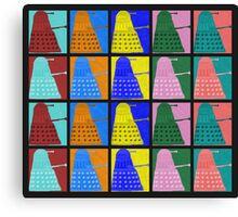 Pop art Daleks - variant 2 Canvas Print