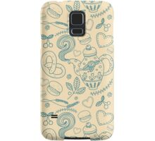 Tea party seamless pattern Samsung Galaxy Case/Skin