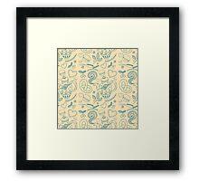 Tea party seamless pattern Framed Print