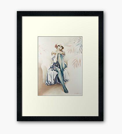 """Blue Ice"" Portrait in Oils Framed Print"