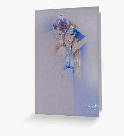 """Der Traum"" Pastel Pencil Artwork Greeting Card"