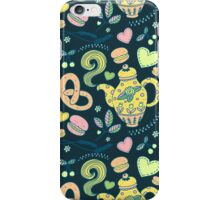 Tea party seamless pattern iPhone Case/Skin