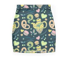 Tea party seamless pattern Pencil Skirt
