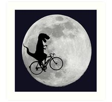 T-Rex loves riding in the sky Art Print