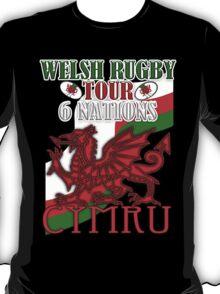 Welsh Rugby 6 Nations Tour T Shirt - Cymru T-Shirt