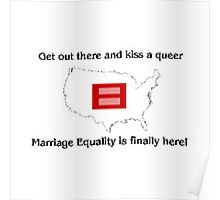 marriage equality is finally here! Poster