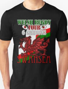 Swansea Rugby Fan 6 Nations Tour T Shirt T-Shirt