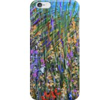 Sea grass 2- wildflower landscape, original art iPhone Case/Skin