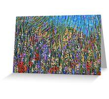 Sea grass 2- wildflower landscape, original art Greeting Card