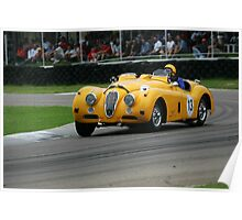 Classic racing car on the track Poster