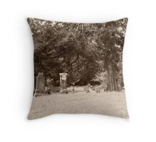 Civil War Cemetary Throw Pillow