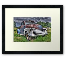 Old Chevy Pickup Framed Print