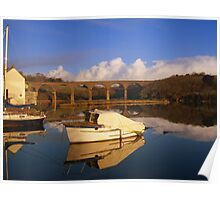 Cornwall: The Viaduct at Forder Lake Poster