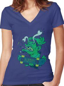 Der Shredder Women's Fitted V-Neck T-Shirt