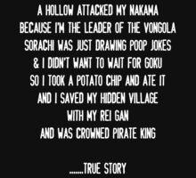 JUMP Manga Anime Fan True Story - White One Piece - Short Sleeve